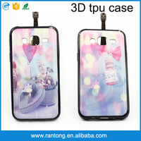Hottest design 3d cartoon tpu phone case back cover for samsung galaxy j2