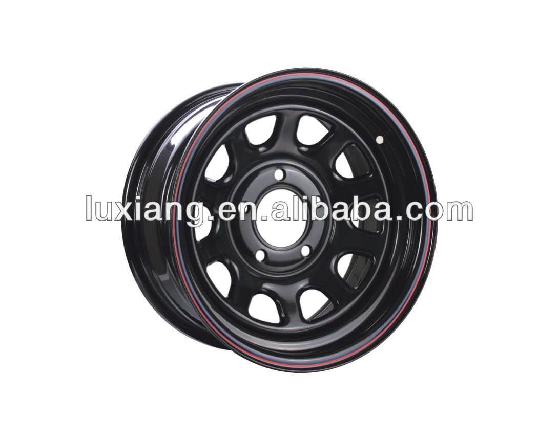 15x10 steel wheels for 4x4 with different PCD 5x114.3 6x139.7