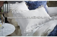 lace nature linen bedding set cushion cover