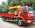 left hand drive Liu Zhou Cheng Long diesel 160ps euro3 7 ton truck with crane for sale