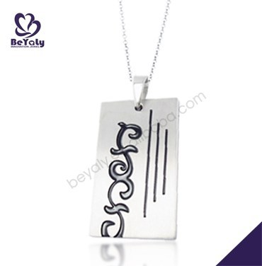 Wholesale engraved custom jewelry stainless steel pendants