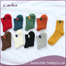 The new design knit pure color socks uni-sex socks