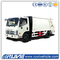 2016 new dongfeng hydraulic garbage truck waste compactor trucks 10 tons