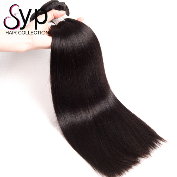 Raw Straight Human Hair Weft, Tangle Free Natural Straight Wave Mongolian Indian Unprocessed Hair Extensions from one Donor