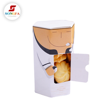 Unique shape design paper malaysia container sweet cake cookie packaging for sale