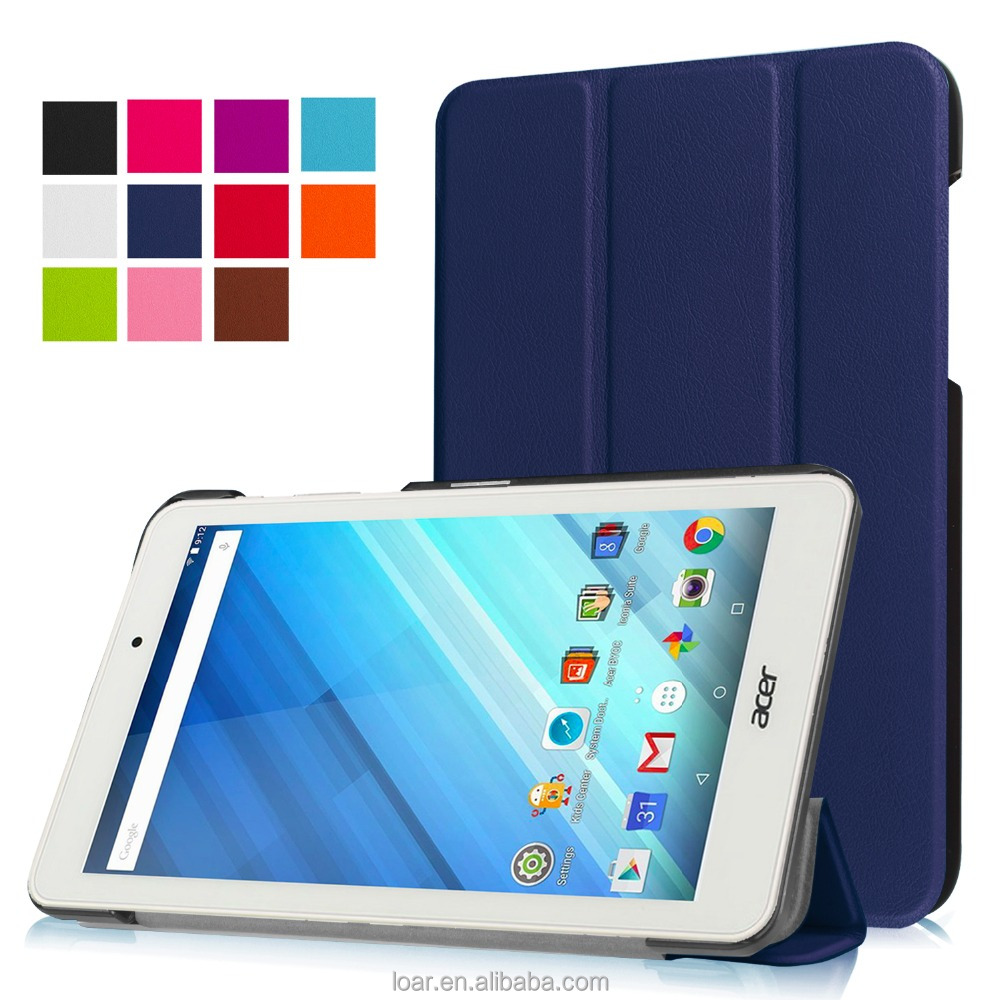 New Tri folding PU Flip tablet cover for ACER Iconia One 8 B1-850 leather case