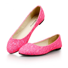 SAA6149 Lady flat shoes sweet lace fashion pointed toe women slip on shoes