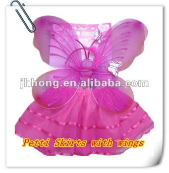 Girls party Fairy dress skirt with wings set Infant tutu skirt pettiskirt