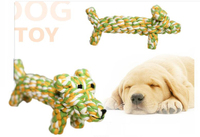 hippo shape dog and cat training rope toys