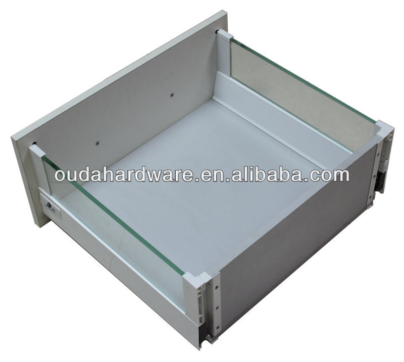 luxury kitchen cabinet soft closing glass slide