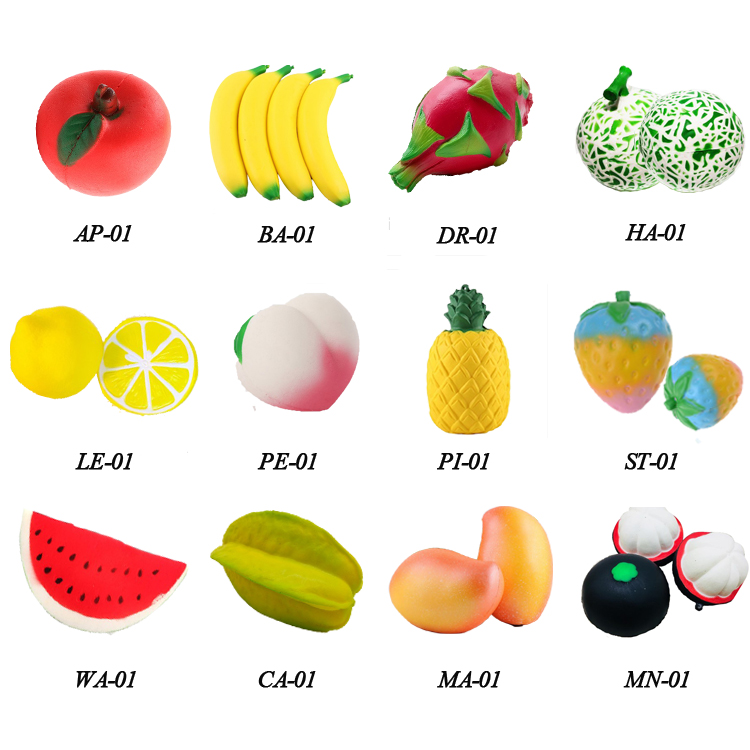 2019 Promotional 7CM PU Slow Rising Fruit Apple Squishy for kids non-toxic easily play