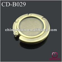 Antique bronze round blank bag holder for promotion CD-B029
