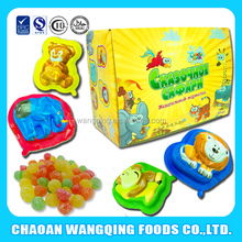 chew souring sweet mix candies gummies in cartoon cup