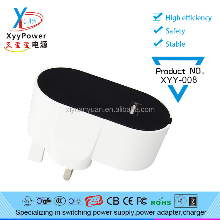 High transmission rate UK plug usb adapter, 5v 2a usb power adapter For a variety of devices