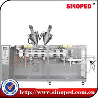 Horizontal premade zipper stand pouch packing machine