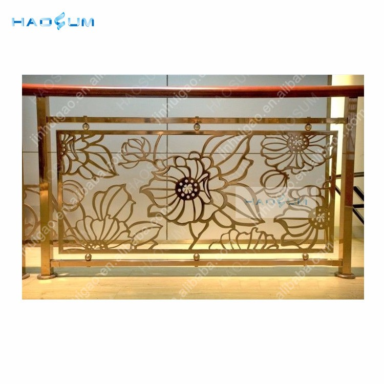 Hotel Stainless Steel /Brass Guardrail Decorative Stairs Handrail