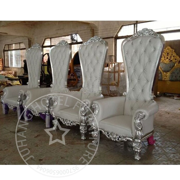 Wholesale Fancy White Wedding King Throne Chair For Sale
