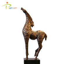100% Custom Made Electric Plated Metal Outdoor Horse Sculpture