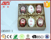 Wholesale hot sell small egg glass crafts set six for Easter gifts