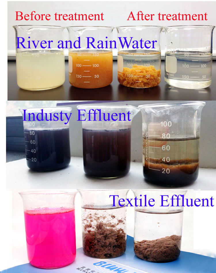 Anionic high polymer for water treatment chemical