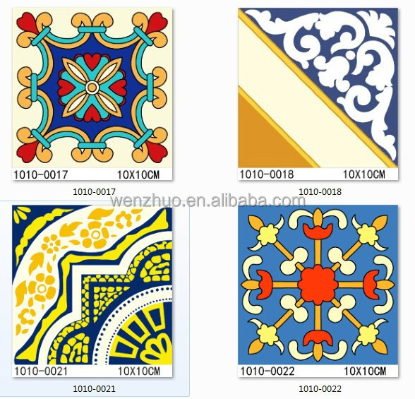 european-style hand-painted antique mediterranean small ceramic <strong>tiles</strong> 100x100