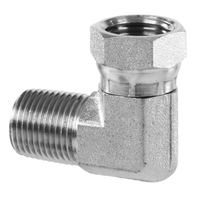 NPT Pipe Male to NPT Pipe Swivel Female 90 Elbow (Stainless)