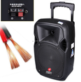 Fashion big power Towel Trolley Speaker Support USB SD Mic FM plastic trolley speaker