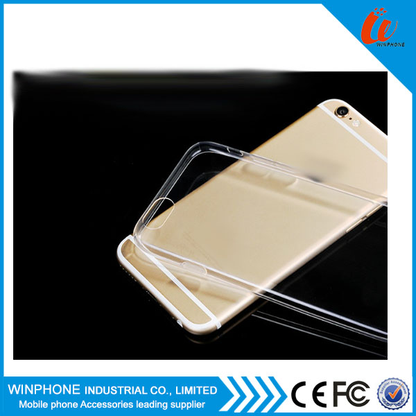 Ultra thin soft tpu back cover case for iphone 6 flexiable slim case