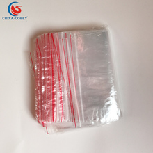 clear large resealable plastic poly zipper bags with handle and customized logo for household packing