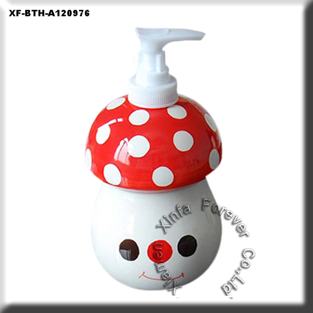 cute mashroom ceramic hand soap dispenser
