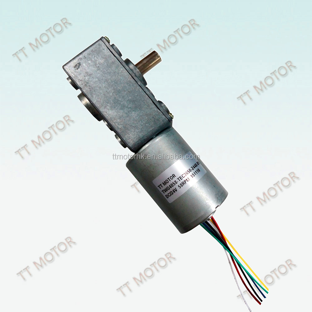 fan 24v brushless dc motor with worm gearbox for small electric toy