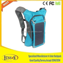 2015 new 10000mAh hiking backpack with solar panel , sport backpack with solar panel , travelling backpack with solar panel