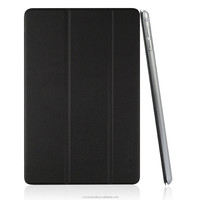 Ultra Slim PU Leather Smart Cover & Clear Back Case for Apple iPad mini 4 (2015 Released) with black color