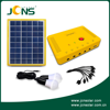 DC 6V/12V/2.5A 4W portable mini solar panel system with 2 led bulbs for small house