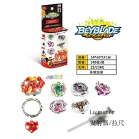Wholesale funny metal spinning battle pop tops toys led spinning top toy