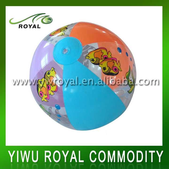Factory Directly Supply Fish Design Inflatable PVC Beach Ball