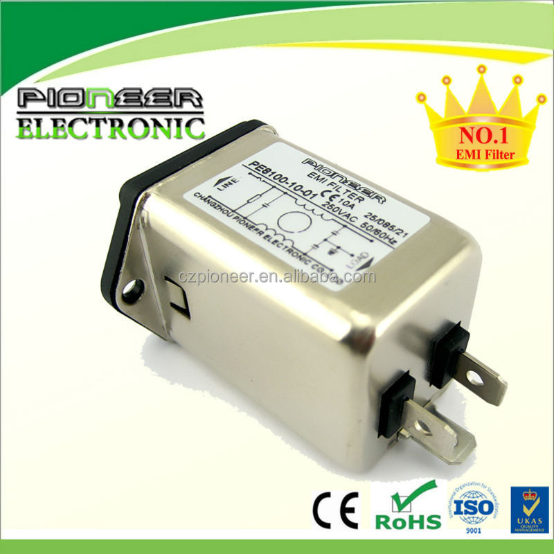 10A, power inlet filter PE8100-10-01 with fuse holder, EMI socket EMI single phase filter, IEC inlet filter with fuse