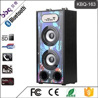 BBQ KBQ-163 10W 1200mAh LED Screen Display with Remote Control Professional Active Speaker