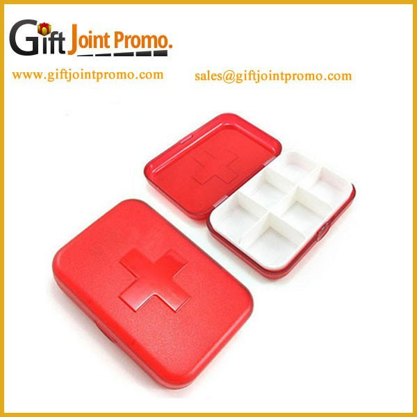 Promotional Wholesale Plastic Pillbox,6 Cases Pill Box