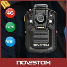 Support 32GB/64GB LIve Stream Wholesale Police Body Worn Lighter Camera