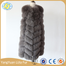 2017 New Design Chinese factories manufacturing high quality Warm cold Winter lady fox fur vest sex