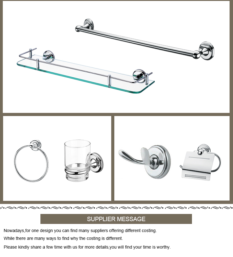 Hotel Modern Simply Stainless Steel Bathroom Accessory Set