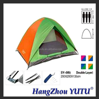 YT-005 3 person double layer oxford waterproof camping tent