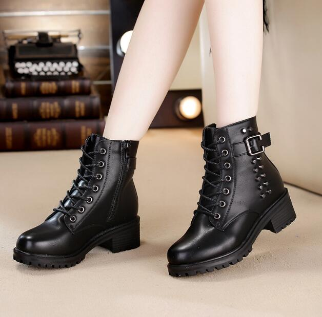 zm32306a stylish high heel short rubber shoes fashion mature women winter boots