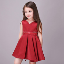 2017 Wine Red Trendy Flower Vestidos Girl Christmas Dress Summer Birthday Party Princess 3-12Y Baby Girl Dress Online Shop India