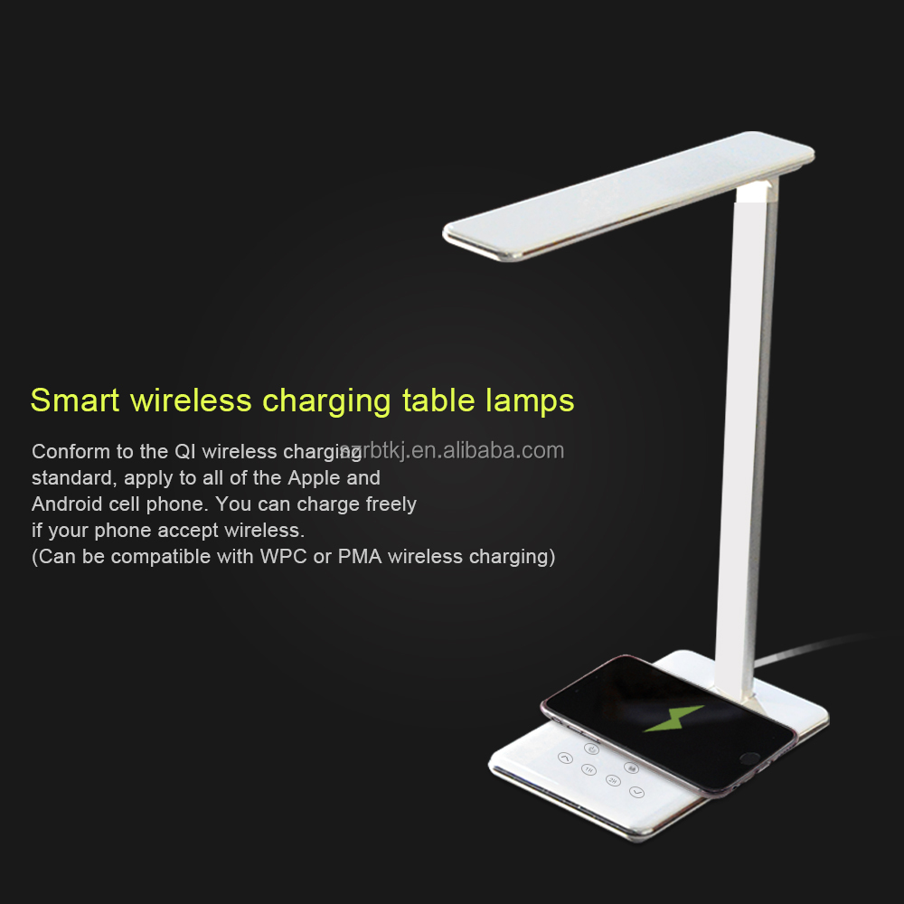 Factory Supplier Fashionable Cheap Touch LED Desk Lamp With Wireless Charging