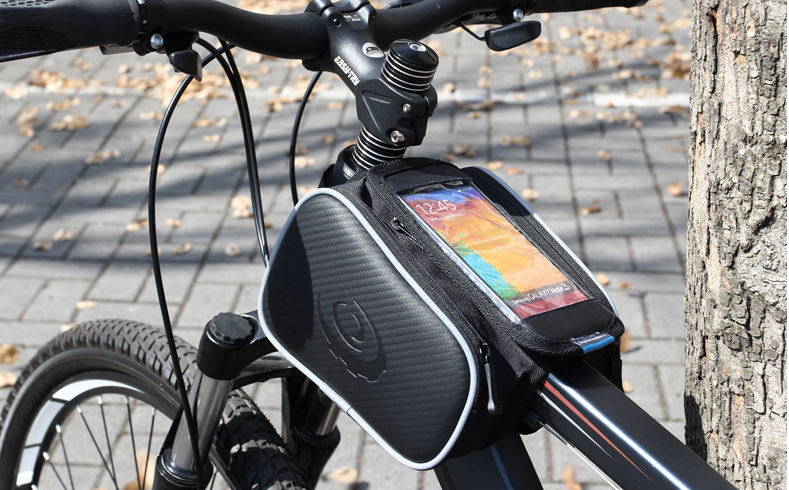 Roswheel Hot Selling Wholesale 4.7/5.5 Inch Waterproof Front Frame Tube Bike Bag With Touch Screen Film
