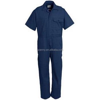 Mens Durable Short Sleeve Collared Working Coverall