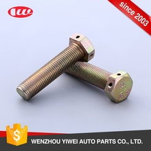 Fasteners wholesale best price hex bolt with holes in head part