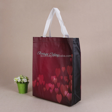 OEM luxury non woven tote gift bag , recycled pp non woven shopping bag